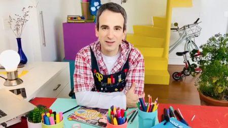 Oficinas de arte com o artista Daniel Warren surpreendem os alunos do Ensino Fundamental